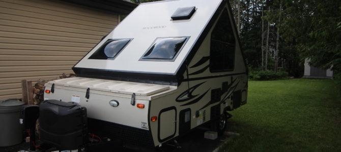Aujourd'hui nous réceptionnons notre belle caravane!